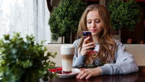 Teen Girl Using Cell Phone